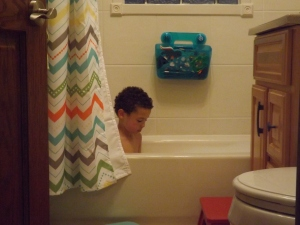 I'm feel aware that my days of hanging out with him while he is in the bath are going to end sooner rather than later.